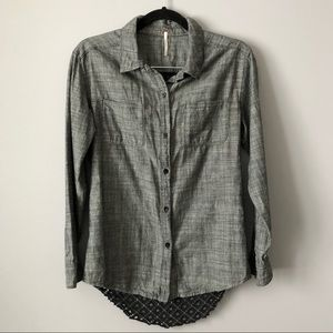 Free People Chambray Button Up